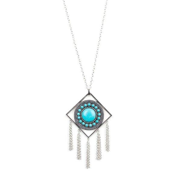Sandstone Solstice - Blue Necklace Set #454